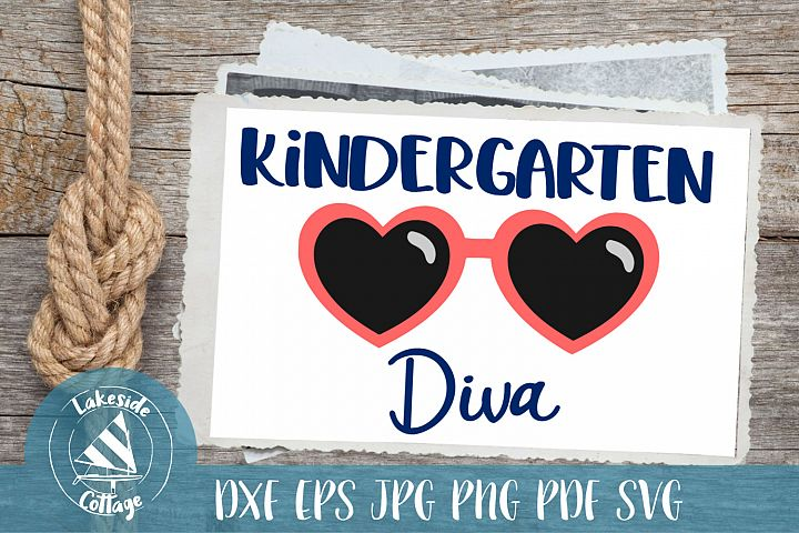 Kindergarten Diva - Kindergarten svg - Firsty Day svg
