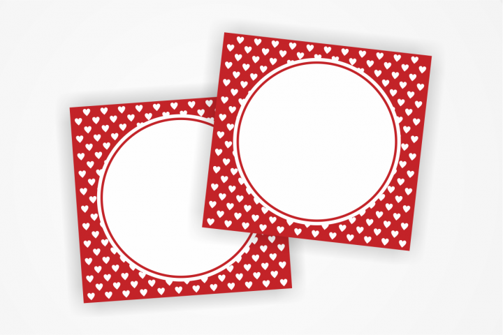Printable RED Tags with small hearts, Label,Heart Card, Heart Tags, Favor Tags, Blank Cards, Party Labels, Instant Download, Favours