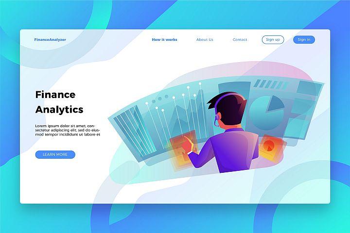 Finance Analytics - Banner & Landing Page