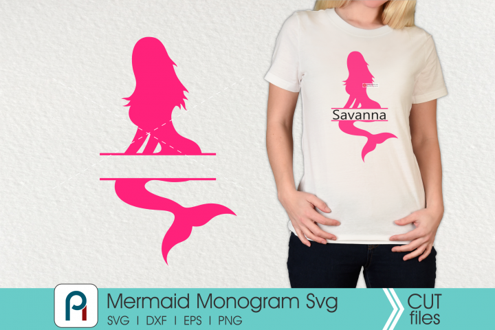 Mermaid Monogram Svg - a mermaid vector file