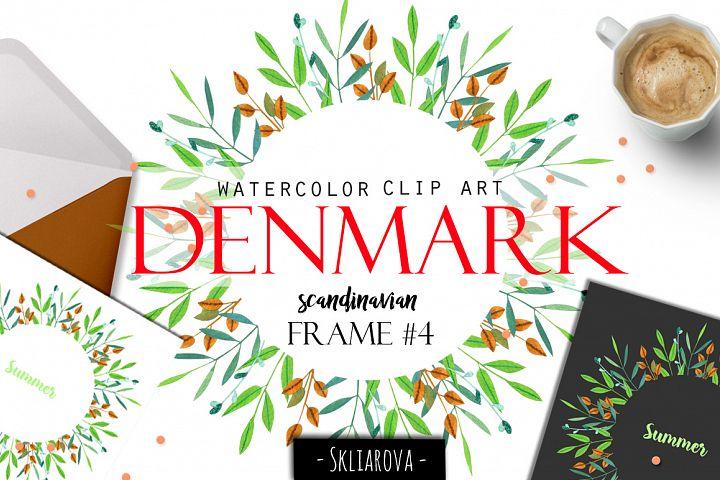 Denmark. Scandinavian floral frame #4