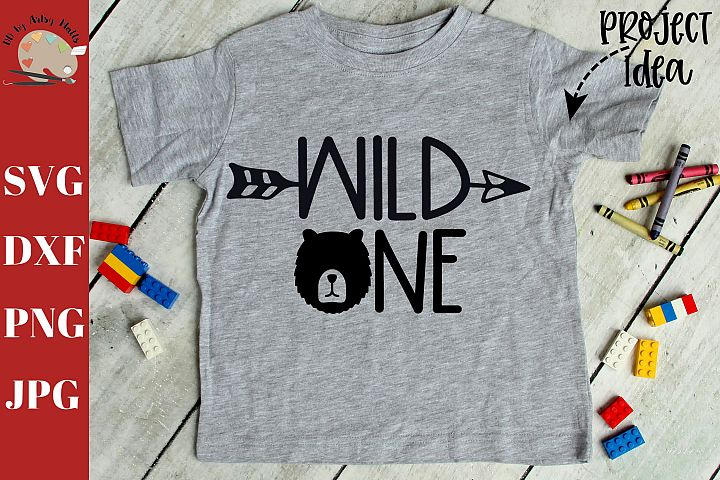 Wild one bear kids shirt svg, kid shirt svg bear saying