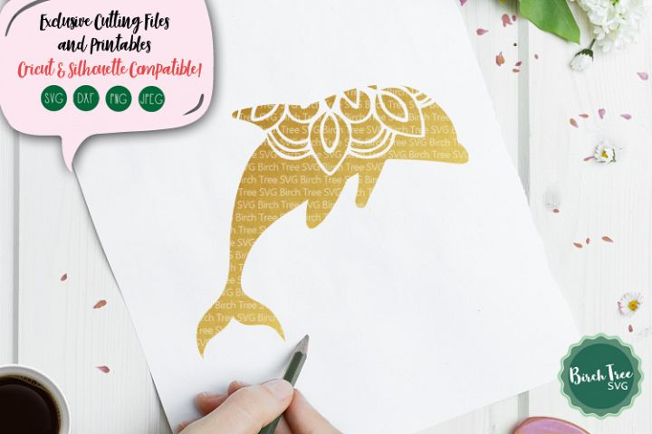 Dolphin Mandala Svg, Dolphin Svg, Dolphin Cutting File