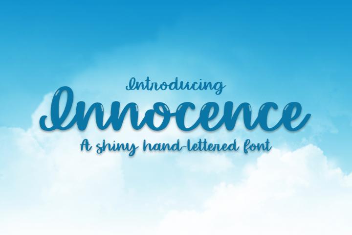 Innocence - A Hand-Written Shiny Script Font
