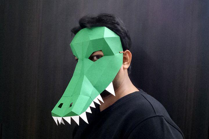 DIY Crocodile/Alligator Mask - 3d papercraft