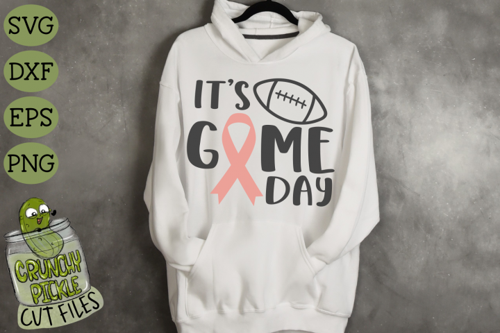 Game Day Ribbon / Breast Cancer Awareness SVG File