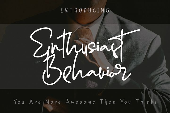 Enthusiast Behavior - Stylish Signature Font