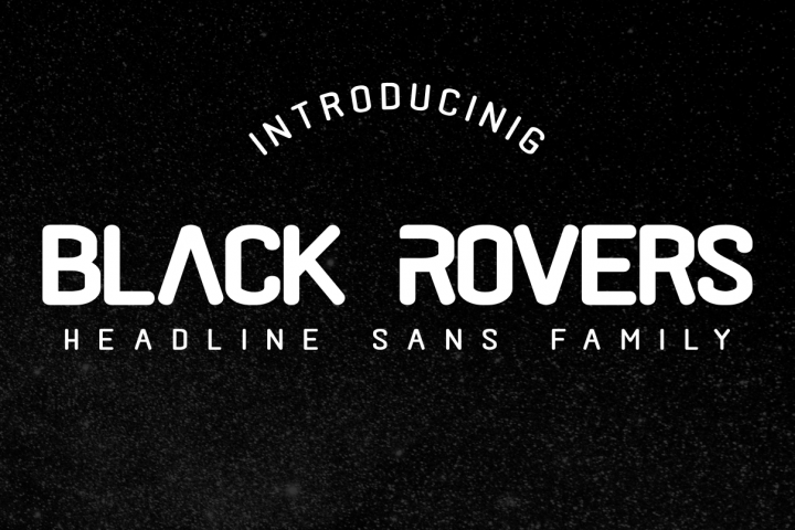 Black Rovers - headline sans family