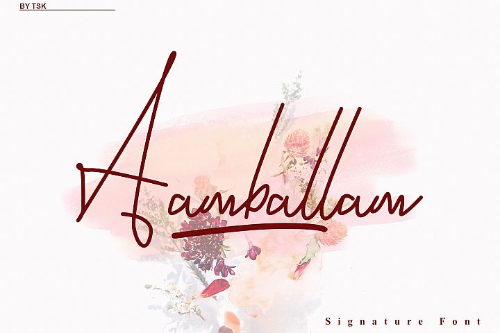 Aamballam -/ Signature Fonts