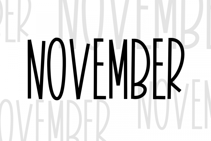 November - A Tall Handwritten Font - Free Font of The Week Design2