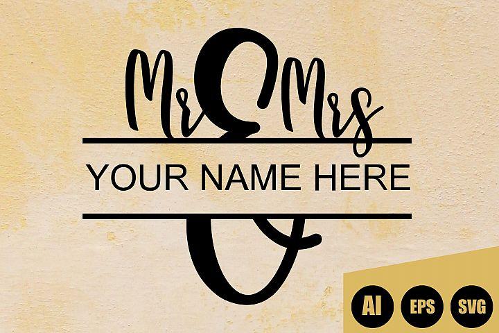 Invitation Mr and Mrs Wedding Sign SVG, AI, EPS