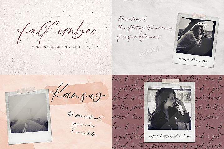 The Chic Calligraphy Font Bundle example image 3