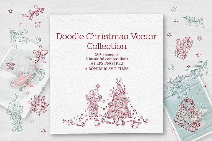 Doodle Christmas Vector Collection