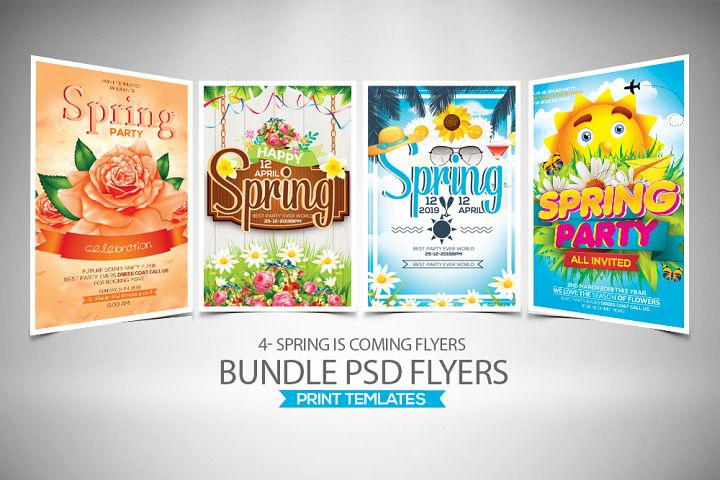 4 Spring Festival Flyers Bundle