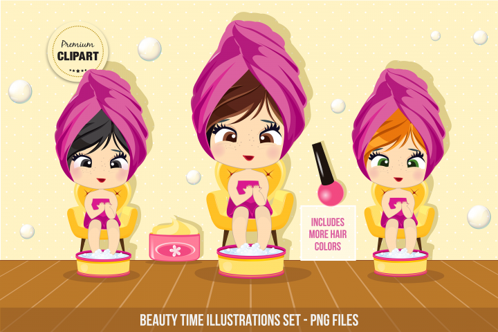 Spa clipart, Beauty time