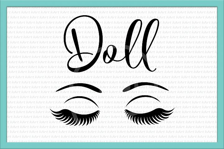 doll face svg, eyes svg, svg quote, make up svg, pretty svg