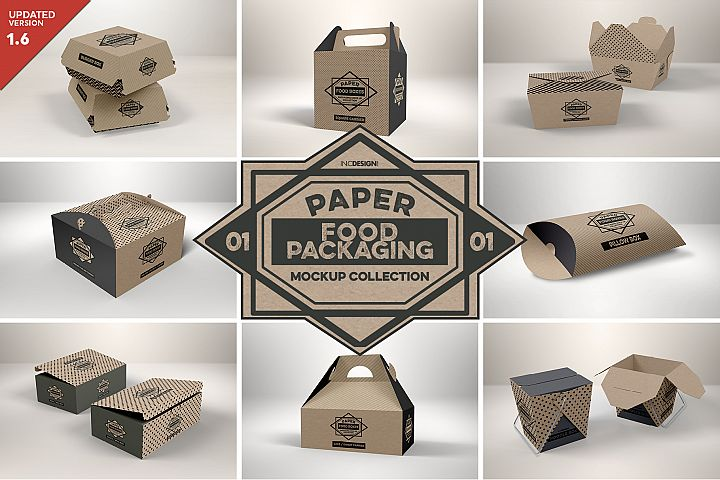 VOL.1 Food Box Packaging MockUps