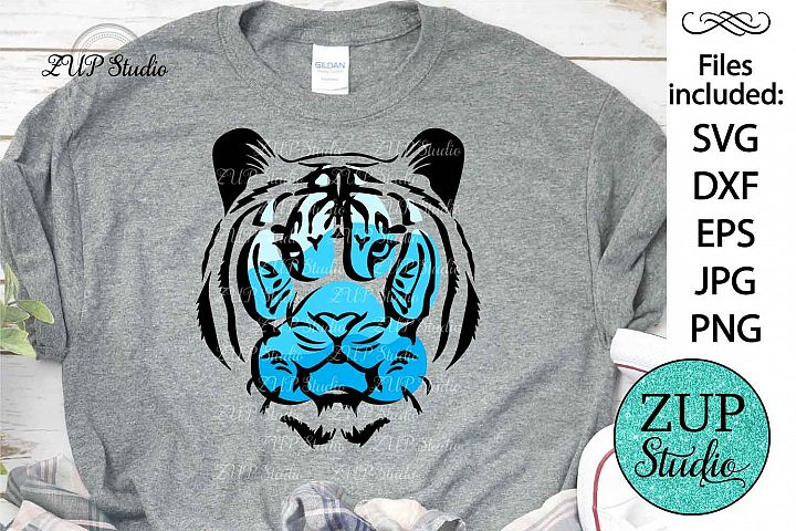 Tiger Face with ombre Paw Digital Cutting files file 427