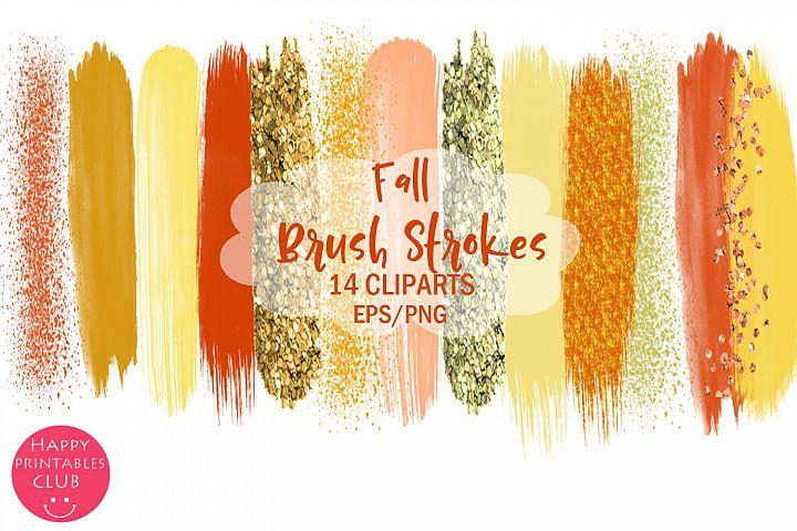 Fall Brush Strokes Clipart- Brush Strokes Clipart