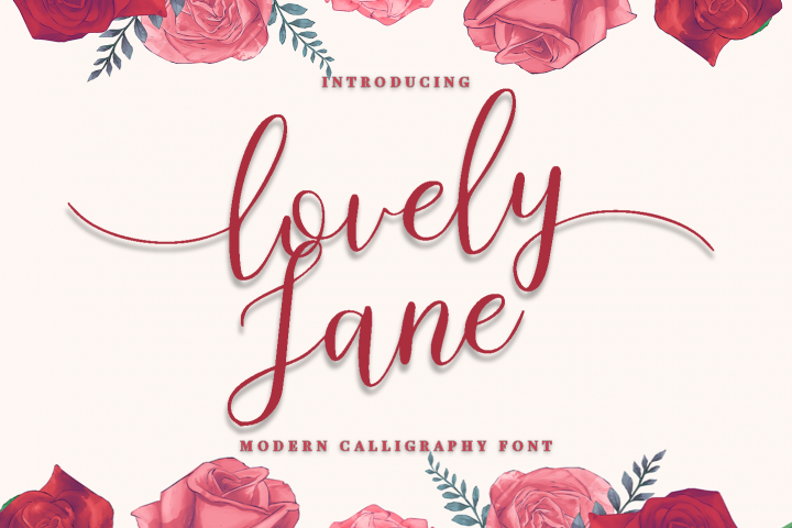 lovely Jane - Modern calligraphy font