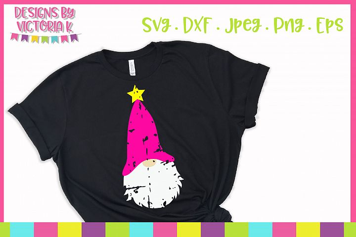 Grunge star gnome, SVG, DXF