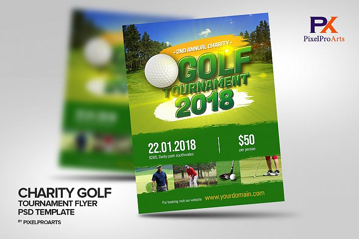 Annual Charity Golf Tournament Flyer Poster Template