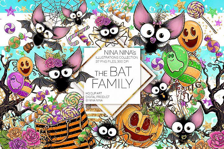 Cute Halloween Clipart, Bats Clip Art PNG Pack