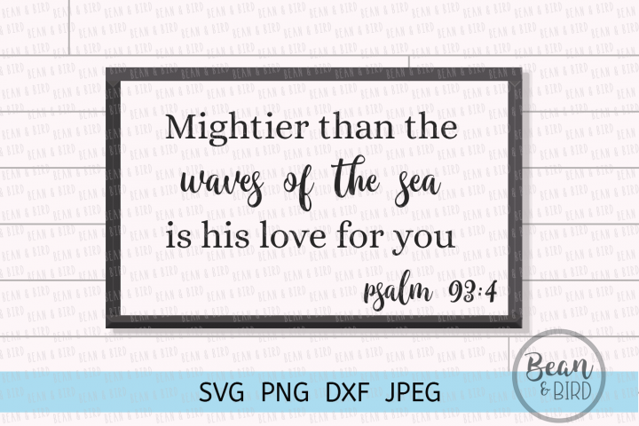 His Love for you Religious Quote Cut File