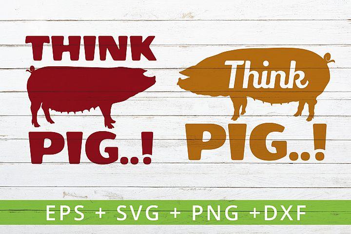 THINK PIG farm theme SVG