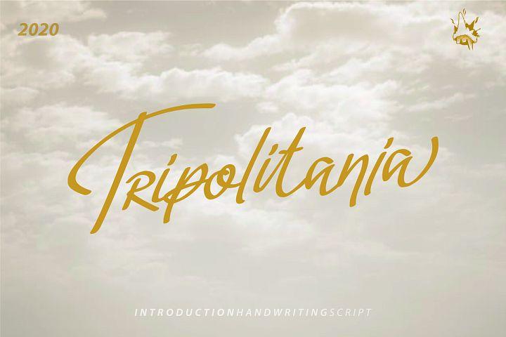 Tripolitania Stylish Handwritting Script Font