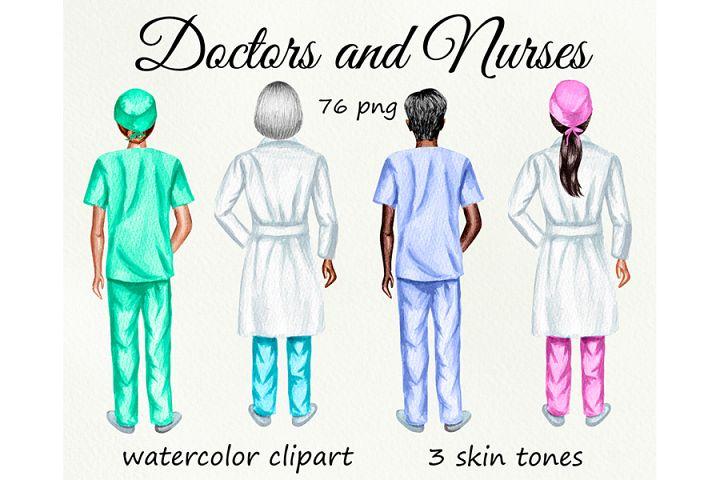 Nurses clipart, Doctor clipart, Medical clipart Custom Nurse