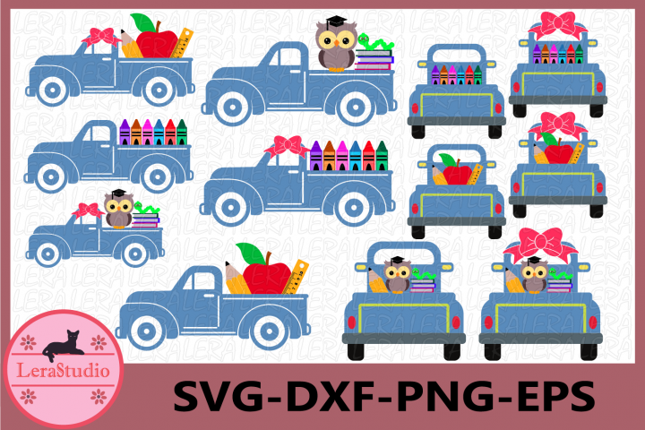 School Truck svg, School Svg, Apple Svg, Truck Svg
