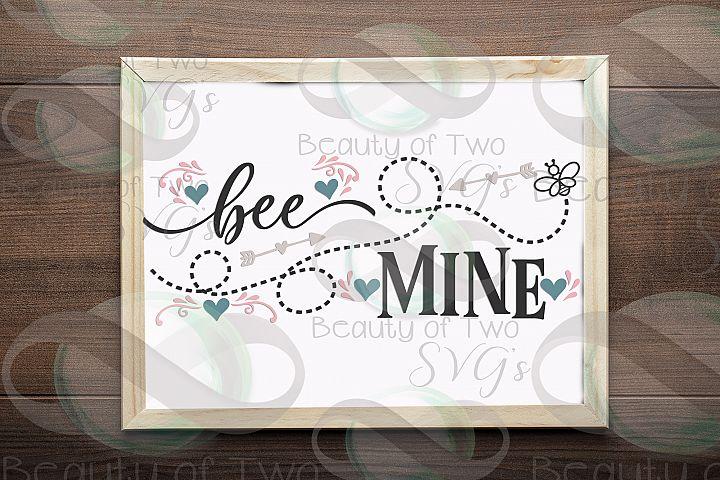 Valentines Bee Mine svg, Valentines sign design svg, Bee svg
