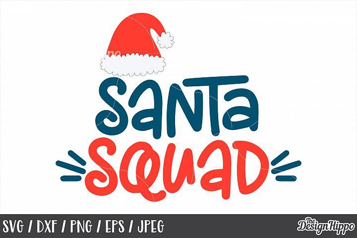 Santa Squad, Santa Hat, Christmas, SVG, PNG, DXF, Cut Files