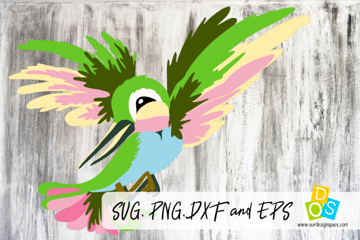 Hummingbird SVG, PNG, DXF and EPS cutting file