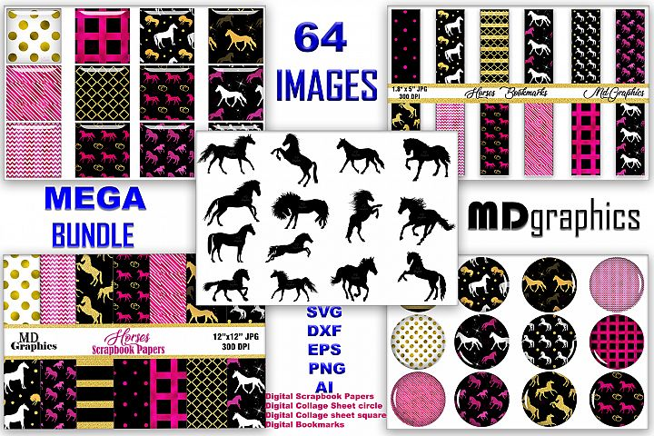 MEGA BUNDLES SVG, DXF, EPS, PNG, AI, SCRAPBOOK, BOOKMARKS