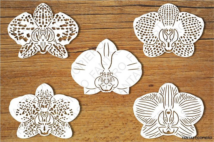 Orchid Flowers SVG files for Silhouette Cameo and Cricut.