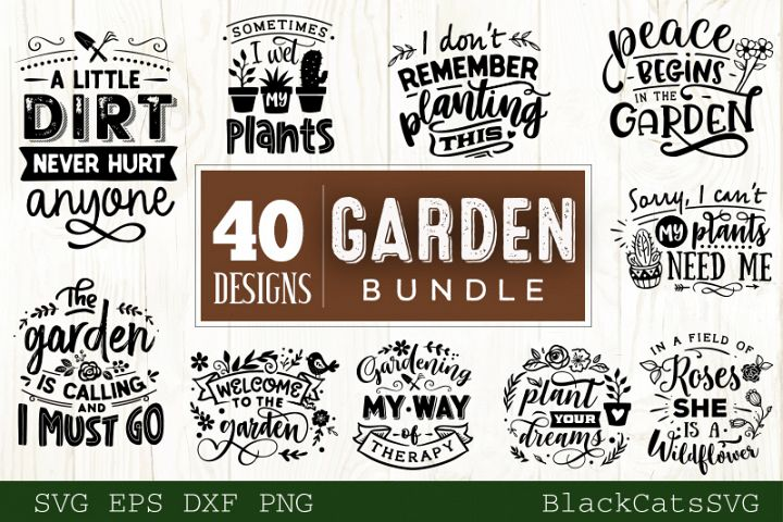 Garden SVG bundle 40 designs Gardening SVG bundle