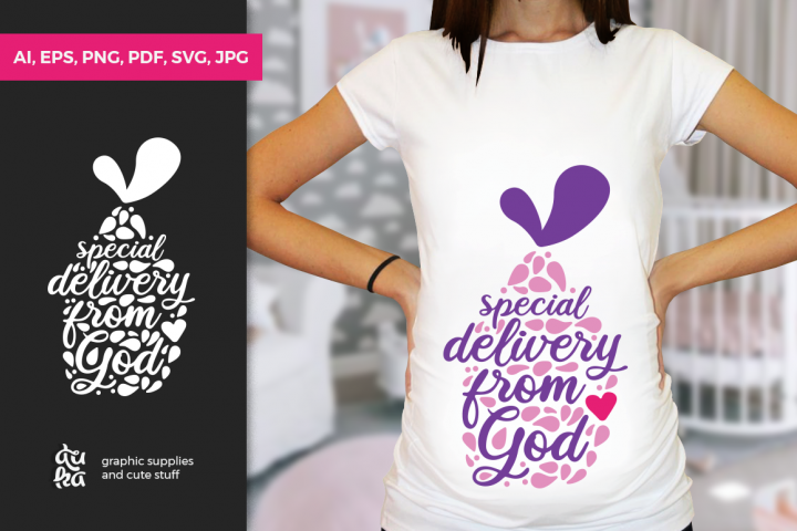 Pregnancy Announcement SVG Cut Files - Special Delivery
