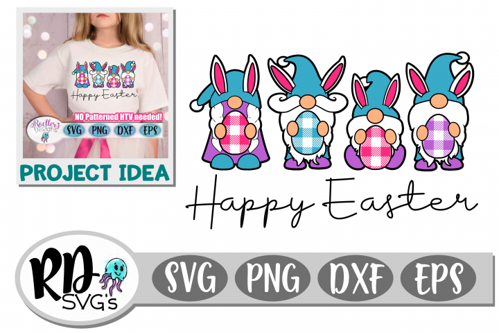 Happy Easter - A PLAID GNOME Layered Easter Cricut Cut File