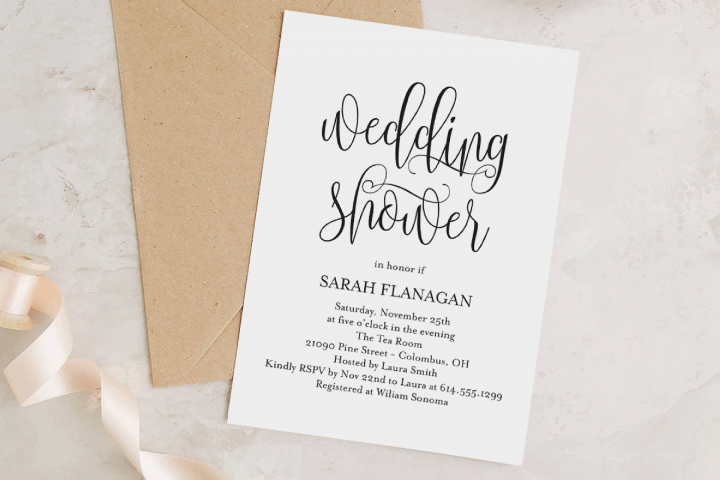 Printable Bridal Shower Invitation Template - Rustic Modern