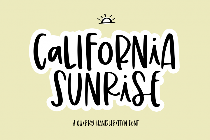 California Sunrise - A Handwritten Font with Alternatives!