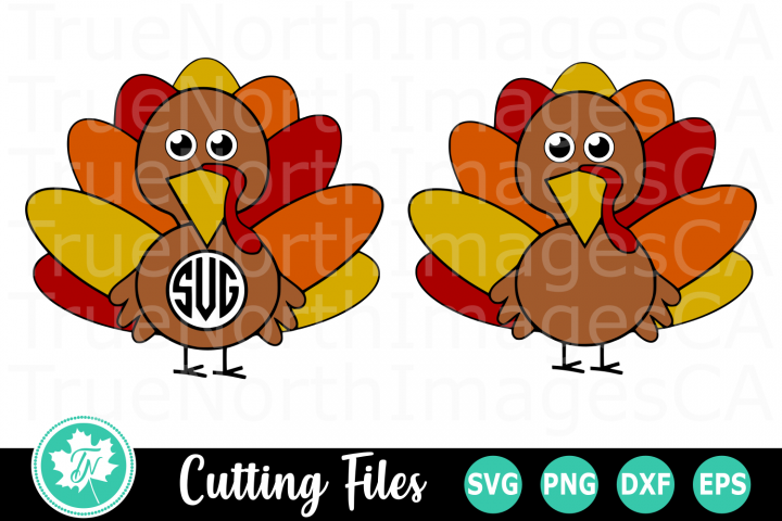 Turkey Monogram - A Fall SVG Cut File