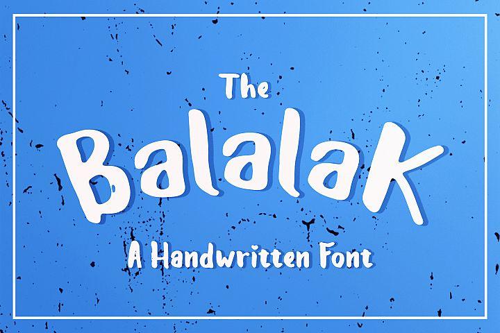 The Balalak Font  5 Style