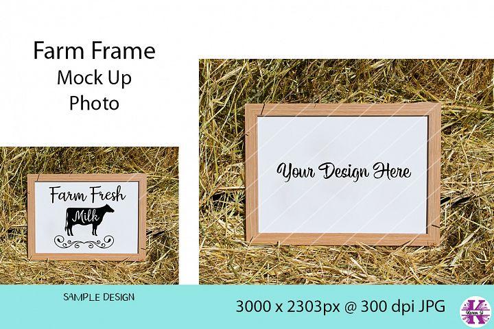 Farm Frame Mock Up Photo