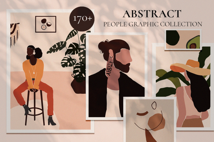 ABSTRACT PEOPLE prints modern art