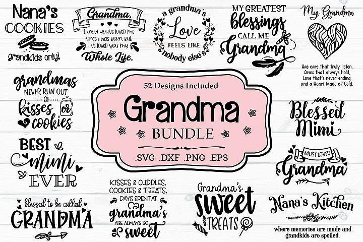 Grandma SVG Bundle, Grandmother Quotes And Sayings