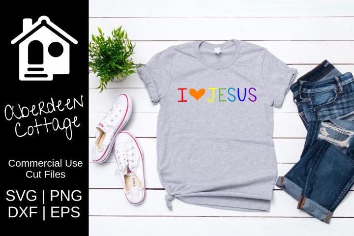 I Love Jesus Design- SVG, PNG, DXF, EPS Formats