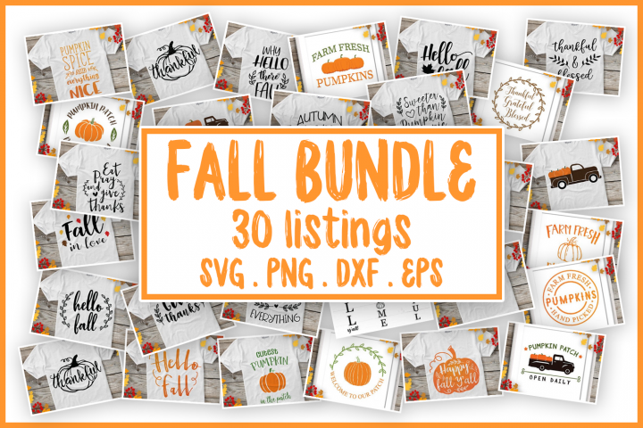 SALE! Fall bundle svg, autumn bundle svg