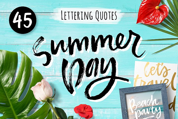 Summer Lettering Quotes Collection